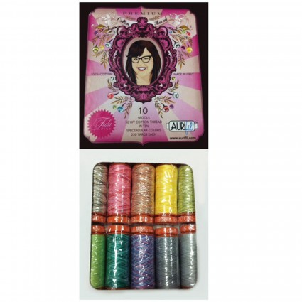 Aurifil Premium Variegated Thread (50wt) Collection By Tula Pink - 10 spools