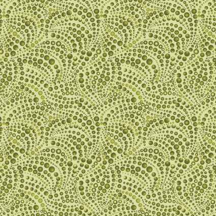 Cat-i-tude Beaded Swirls Green
