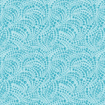 Cat-I-Tude beaded swirl light teal color 52