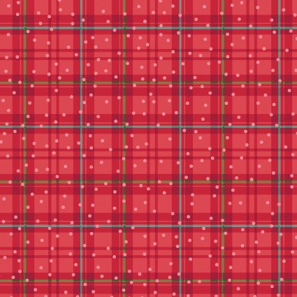 BETTER NOT POUT WINTER PLAID RED by BENARTEX
