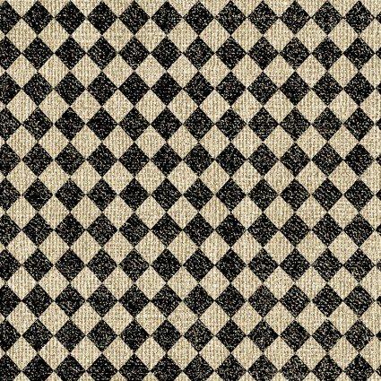 Quilter Barn Prints II -- Diamond/Tan & Black  10191-72