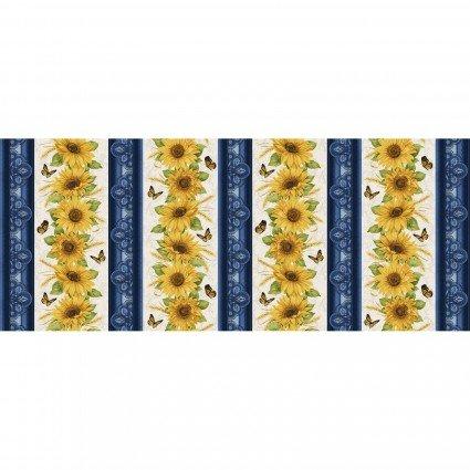Accent on Sunflowers Stripe BEN10212-55