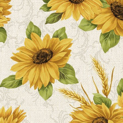 Accent on Sunflowers -  Sunflower Meadow Linen