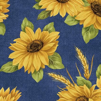 Accent on Sunflowers -  Sunflower Dance Blue