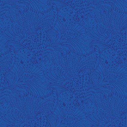 Peacock Flourish Blue