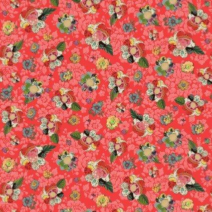 Soul Shine & Daydreams Collage Flower 10347 39 Dark Coral 10347 39