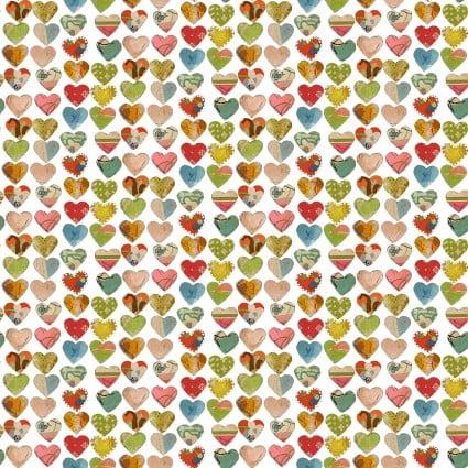Soul Shine & Daydreams Large Hearts White 10348 09