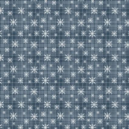 A Very Wooly Winter Snowflake Plaid Denim