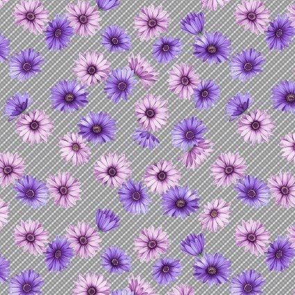Miss Marguerite Plaid Mist Floral