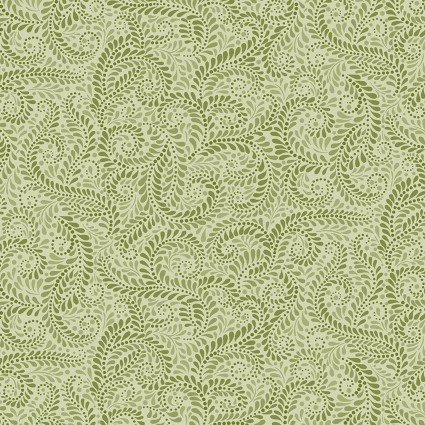 01225-43 Accent on Sunflowers Napa Swirl Light green