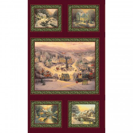 Spirit of Christmas Panel by Thomas Kinkade 1536B-99
