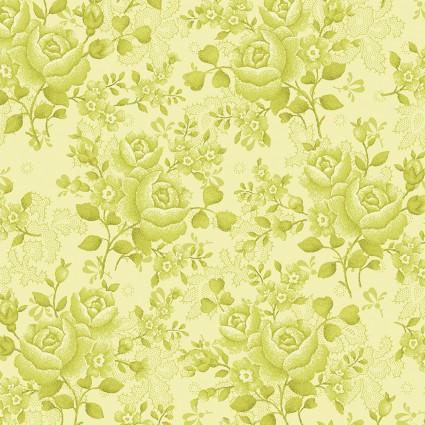 Benartex - 108 Homestead Wide Quilt Backs - Light Green Floral BEN1649W-42
