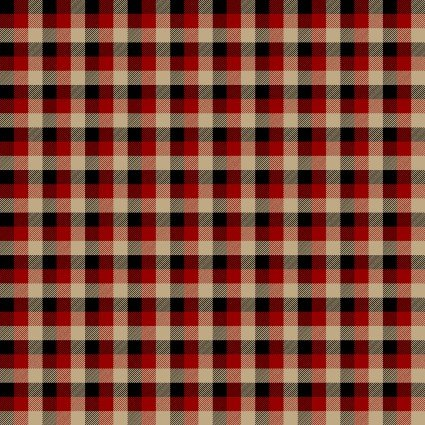 Rustic Journey-red/tan plaid