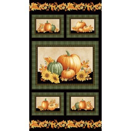 Benartex Autumn Elegance 24 Panel Pumpkins