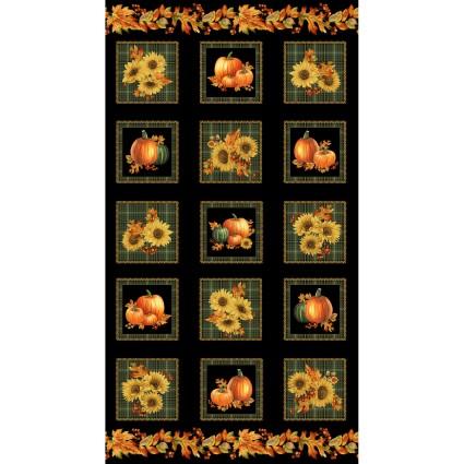 Autumn Elegance Squares 24 Panel on Black