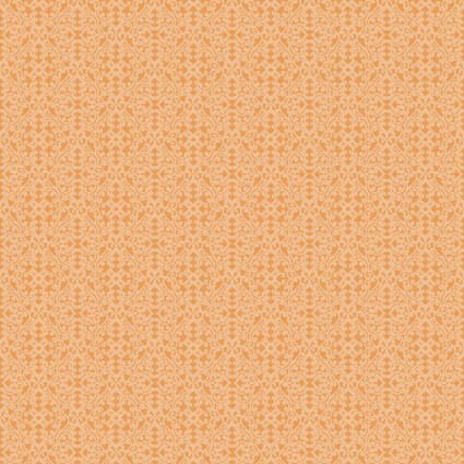 Autumn Elegance - Light Tangerine Damask Diamond 1673-37
