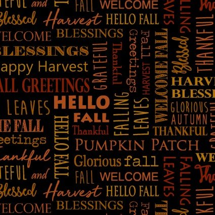 Rustic Fall- Hello Fall Black