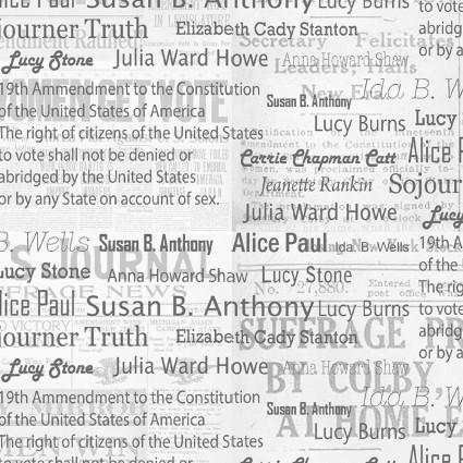 Your Vote Counts 19th Amendment Anniversary Fabric