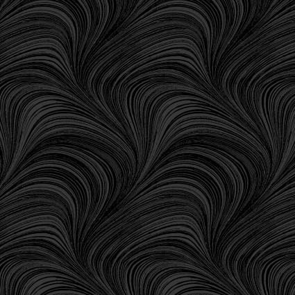 Wave Texture Black - FAB1367 Black Wave