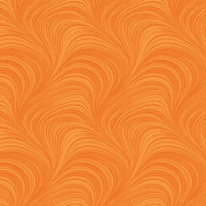 Autumn Leaves -Wave texture tangerine