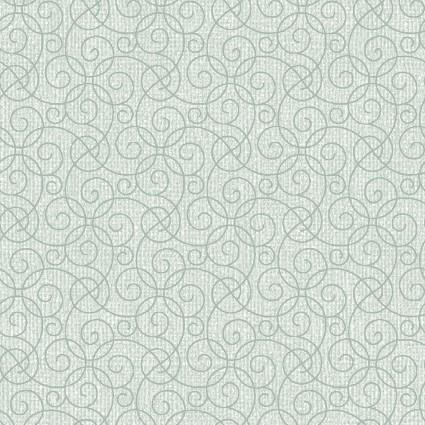 Quilter Barn Prints II -- Barn Scroll/Lt. Sea Mist   03081-04