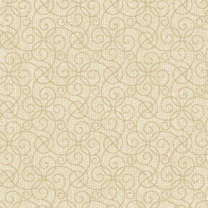 Quilter Barn Prints II -- Barn Scroll/Vanilla   03081-07