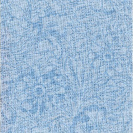 108 Antique Floral Quilt Backs - Bluebell (F10648)
