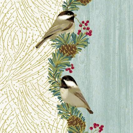 Festive Chickadees - 4210M-52