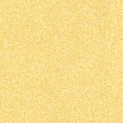 108 Delicate Vines Quilt Backs - Yellow