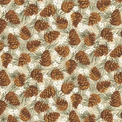 Winter Wonderland Pine Cones Natural