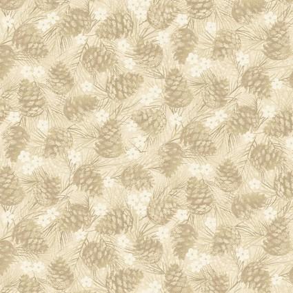 Winter Wonderland - Pinecones Tan