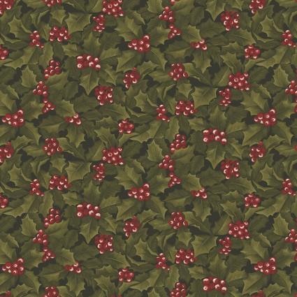 Winter Wonderland - Dark Green Red Berries