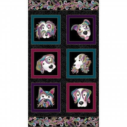Dog On It - Panel, Black/Multi