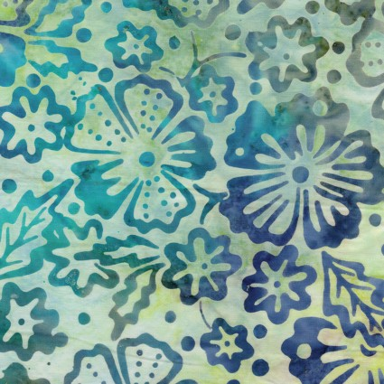 Fiesta Bali - Blossoms Blue/Lime