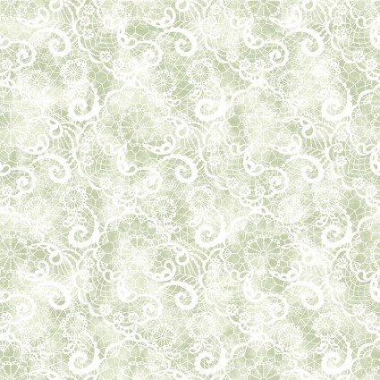 A Festival of Roses Festive Lace Green BEN6640P-42