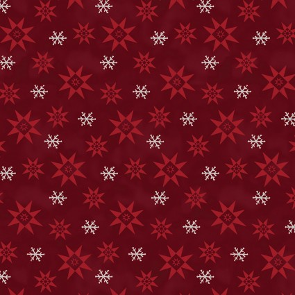 A Quilter's Christmas Snowflake Red