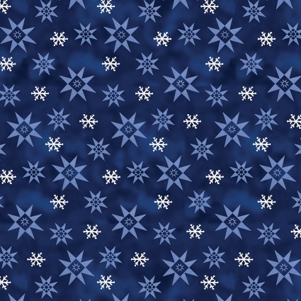 A Quilter's Christmas by Jim Shore Winter Snowflake Dk Blue