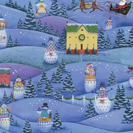 A Quilter's Christmas Scenic Snowmen