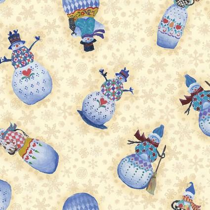 A Quilter's Christmas Snowmen Cream
