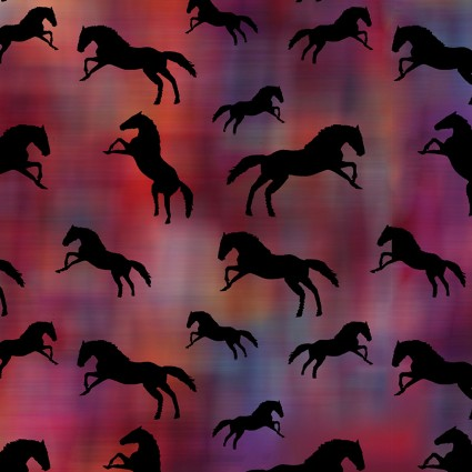 Painted Horses Tossed Horses Red/Multi