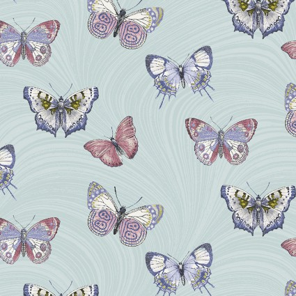 Totally Tulips Butterfly Wave Light Teal
