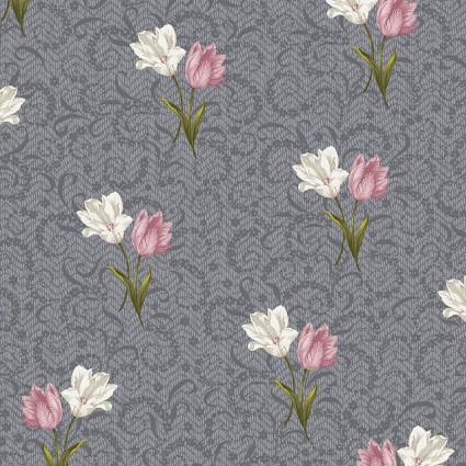 Totally Tulips Tulips Twist Dark Grey BEN6734P-13