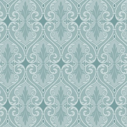 Totally Tulips Damask Teal