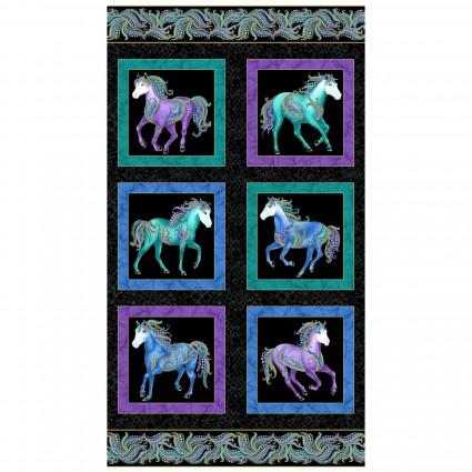 Horsen Around -- 16850M-12 -- Black/Multi
