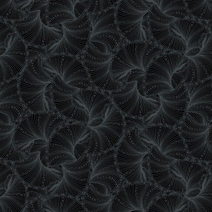 Black Fanfare Peacock Flourish