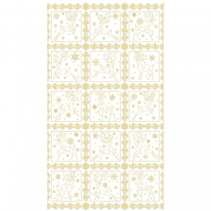 Deer Festival/Panel White/Gold