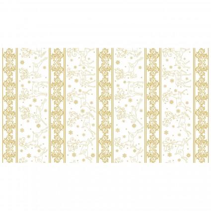 Deer Festival/Stripe White/Gold