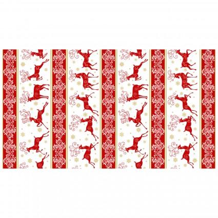 Deer Festival - stripe red