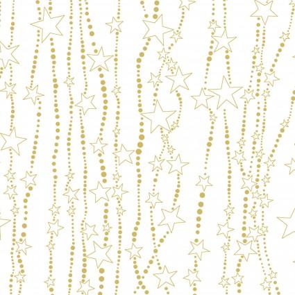 Deer Festival/Stencil Stars White/Gold