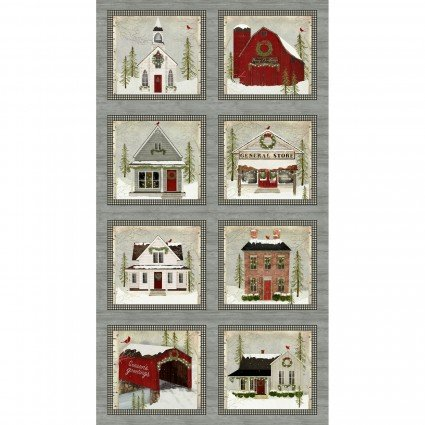 Snow Village Panel Multi